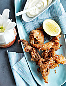 Squid karaage with Japanese mayonnaise