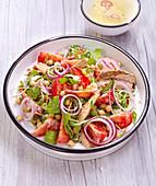 Chickpea, Tomato, Arugula and Sardine Salad