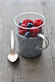 Chia Seed and Red Fruit Pudding