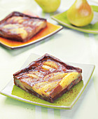 Pear and chocolate clafoutis