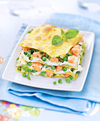 Salmon and Pea Lasagna