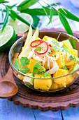 Mango, avocado and crabmeat salad