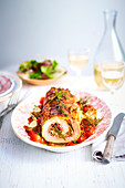 Veal roll with herbs