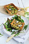 Rustic Spinach and Fresh Onion Tart