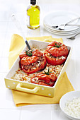 Stuffed tomatoes with ground meat and rice