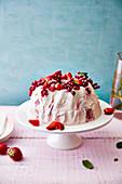 Red Fruit Ice Cream Cake with Kouglof