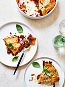 Sweet Potato Parmentier with Lentils and Spicy Lamb