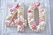 Number cake : 40