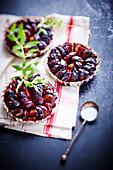 Quetsch plum tartlets