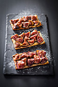 Roasted fig thin tartlets