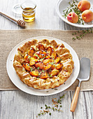 Apricot and thyme rustic tart