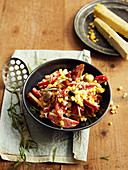 Corn, Tomato and Smoked Brisket Salad