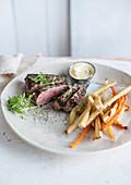 Steak wortel pastinaak krielpatatjes