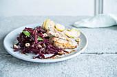 Red cabbage veal potatos