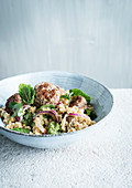 Beef meatballs with cauliflower couscous