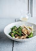 Chicken broccoli chicory salad