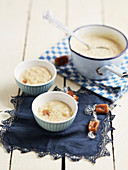 Rice pudding with salted butter caramel