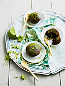 Matcha tea chocolate half-baked