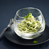 Zucchini and goat cheese remoulade