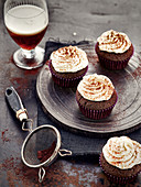 Brown Pelfoth Beer Fudge Cupcake