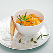Stewed apricots with rosemary