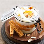 Shirred eggs with pumpkin and Reblochon
