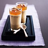 Vanilla panna cotta with cider jelly