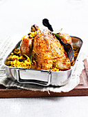 Roast chicken with bulgur