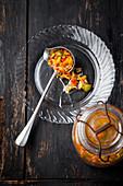 Salsa Criolla (Sauce mit Zwiebeln, Tomaten, Knoblauch und Paprika, Südamerika)