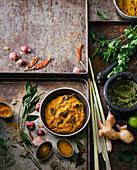 Selbst gemachte Currypaste und Pesto