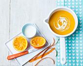 Karotten-Orangen-Suppe für Kinder