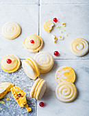 Zitronen-Baisergebäck nach Macaron-Art