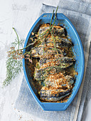 Stuffed sardines baked in the oven