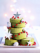 Christmas green Matcha tea cakes