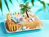 Sommerlicher Insel-Kuchen