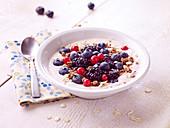 Muesli with summer berries