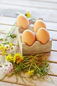 Frische Eier vom Bauernhof