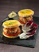 Salmon burger, herbs mayonnaise