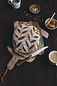 Leaven bread loaf