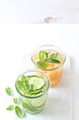 Gurken- und Melonendrink