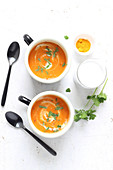 Carrot and turmeric soup