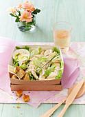 Caesar Salad in Bento-Box