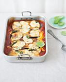 Eggplant gratin with mozzarella
