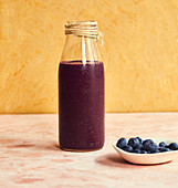 Courgette and blueberry smoothie