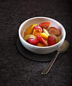 Peach and strawberry salad