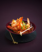 Grilled prawns with espelette pepper