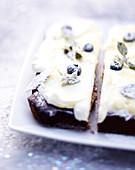 Blueberry Christmas Cake