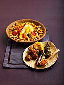 Couscous mit vier Sorten Fleisch