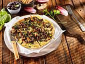 Woodland mushroom omelette
