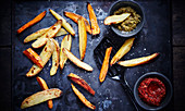 French fries a la plancha
